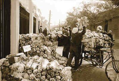 1982年,北京34,000多人参加冬储大白菜的销售。