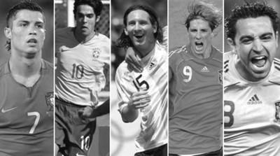 五大球星角逐2008年世界足球先生