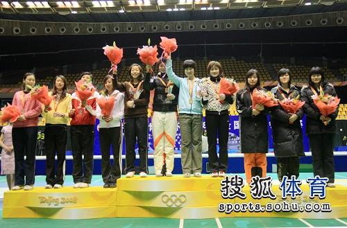江苏登上女佩团体最高领奖台