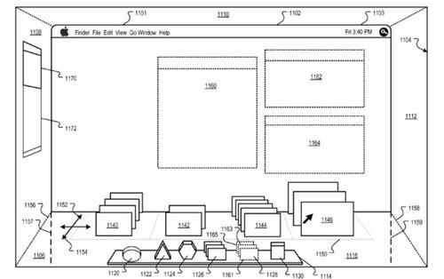 苹果新专利曝光 Mac系统有望实现3D桌面