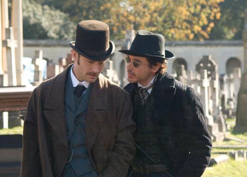 福尔摩斯与华生医生首次同时出现在一个画面中-福尔摩斯 首批剧照 肌