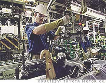 丰田公司在阿拉巴马州的一个发动机车间
