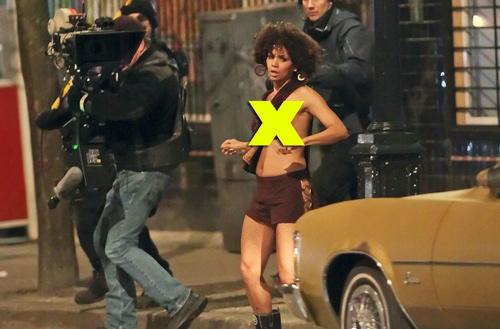 奥斯卡影后哈里-贝瑞正在加拿大温哥华拍摄新电影《弗兰克和爱丽丝》