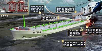 """""""振华4""""号上的30名中国船员昨天在索马里海域用自己的勇气和智慧取得""""海盗遭遇战""""的惊险胜利。 赵佳峰制图"""
