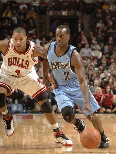 罗斯 纳特/图文:[NBA]公牛VS爵士纳特突破罗斯