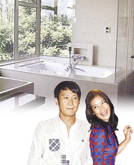 黎明(左)与乐基儿爱得高调,新房拥有透视玻璃浴室、按摩浴缸