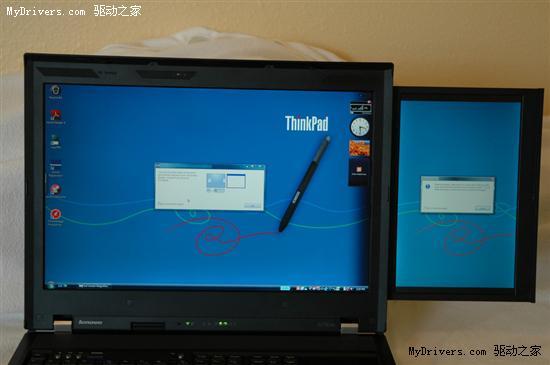 双屏笔记本ThinkPad W700ds实机多图赏