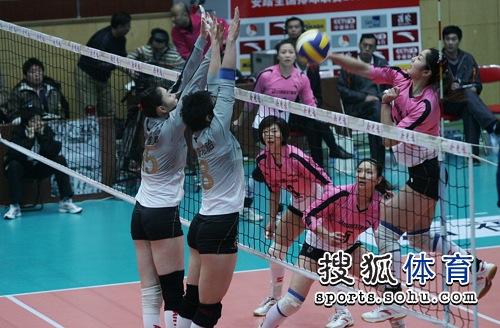 上海女排双人拦网