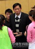 图文:天津女排1-3负上海 王宝泉表情严肃