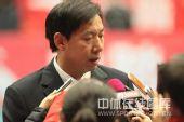 图文:天津女排1-3负上海 王宝泉赛后接受采访