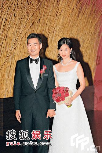 许晋亨外甥郭永亮和女友黄兆贤昨日摆酒结婚