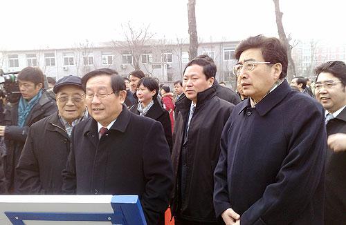 全国政协副主席、科技部部长万钢,北京市市长郭金龙等领导视察福田汽车