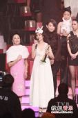 2008劲歌金曲颁奖礼现场 谢安琪再度上台感谢大家