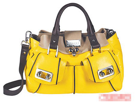 亮黄与驼色双色拼接Blossom Bag。1万3750元