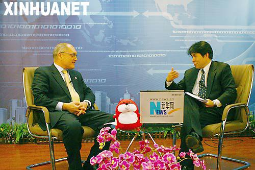 2009年1月5日,以色列驻华大使安泰毅作客新华网。 新华网发(陈国栋摄)
