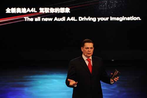 一汽-大众奥迪销售事业部总经理唐迈先生在全新奥迪A4L上市活动中致辞