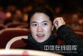 图文:辽宁体坛09春晚 王楠观看节目