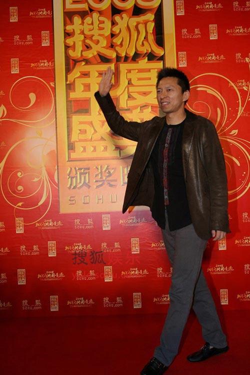 搜狐公司董事局主席兼CEO张朝阳压轴红毯