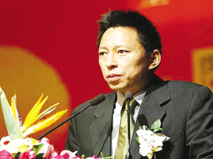 张朝阳在搜狐新视角高峰论坛上。