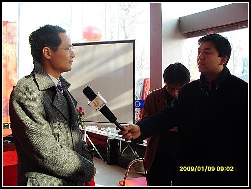 吉奥销售公司总经理陶云德接受山东电视台采访