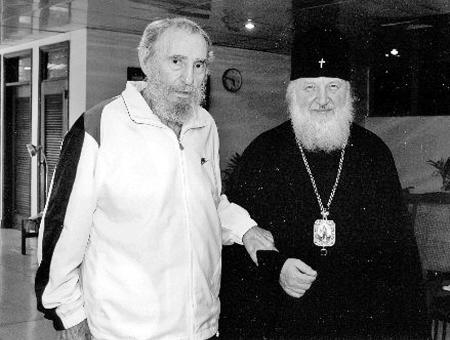 去年10月20日,菲德尔·卡斯特罗与俄宗教人士见面。