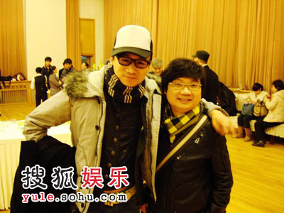 高虎和著名编剧程青松老友相见