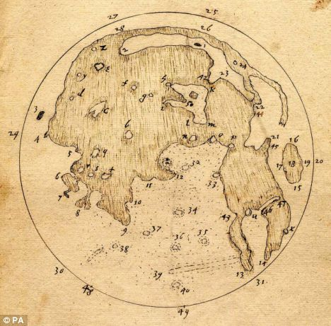 制月球地图比伽利略早