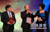 图文:体坛风云人物提名奖颁奖 王勇峰回答提问
