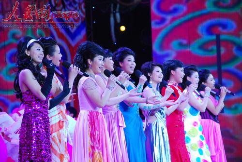 2009年春晚第三次彩排节音乐类节目。(人民网记者文松辉摄影)