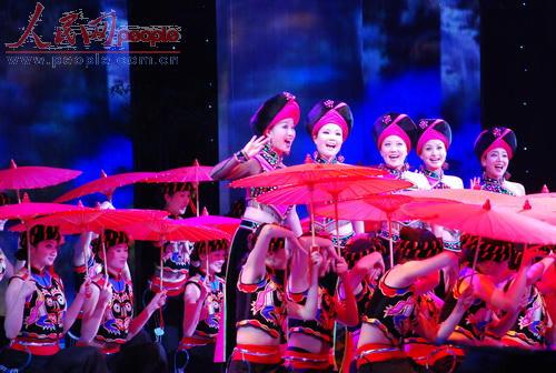 2009年春晚第三次彩排节音乐舞蹈类节目(人民网记者文松辉摄影)