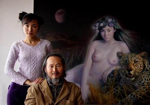 李壮平的神女系列油画震撼首届黄桷坪艺术节