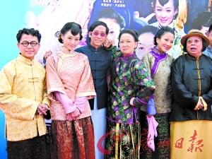 《陈梦吉与三十六计》主要演员合照。