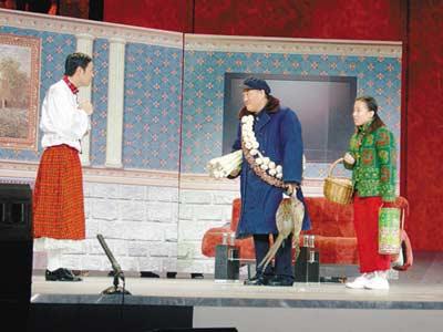 赵本山毕福剑小沈阳毛毛搭档。