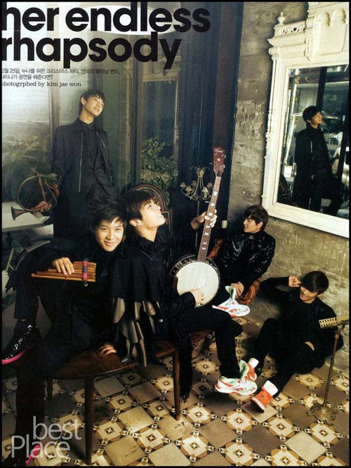 SHINee是由五名少年组成