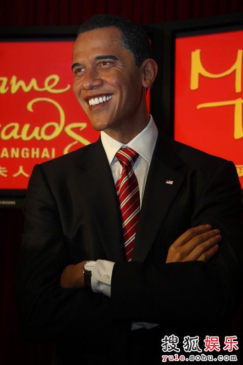 """上海蜡像馆里的""""奥巴马"""""""