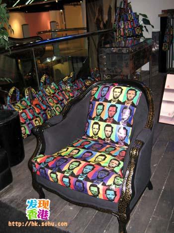 椅子待展览之后拍卖