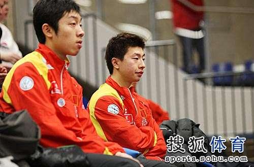 中国队球员现场观战