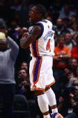 图文:[NBA]火箭VS尼克斯 罗宾逊大声吼叫