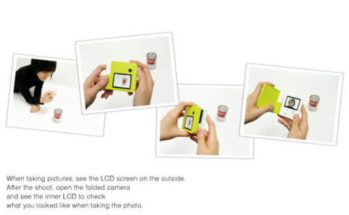 前后两枚镜头 概念型蛤蜊数码相机诞生