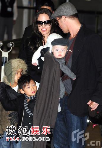 安吉丽娜-朱莉(Angelina Jolie)和布拉德-皮特(Brad Pitt)