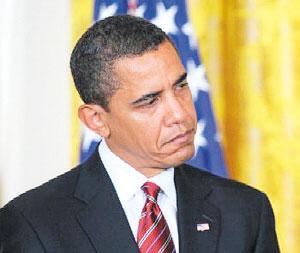 奥巴马很懊恼