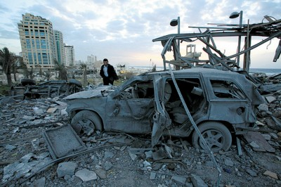 加沙旧伤未愈又添新伤,昔日总统府已经成废墟