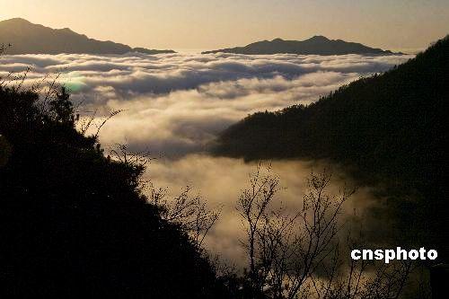 安徽黄山现罕见10小时云海奇观(图)