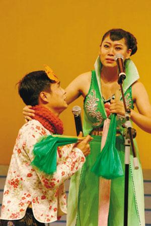 小沈阳和妻子同台演出