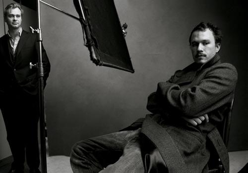 """《黑暗骑士》导演克里斯托夫-诺兰和希斯-莱杰的""""重聚"""""""
