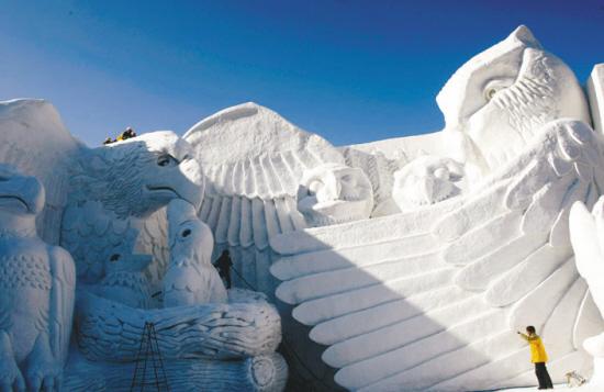 走进札幌的冰雪雕塑世界(组图)