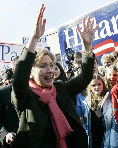 资料图片:希拉里-克林顿