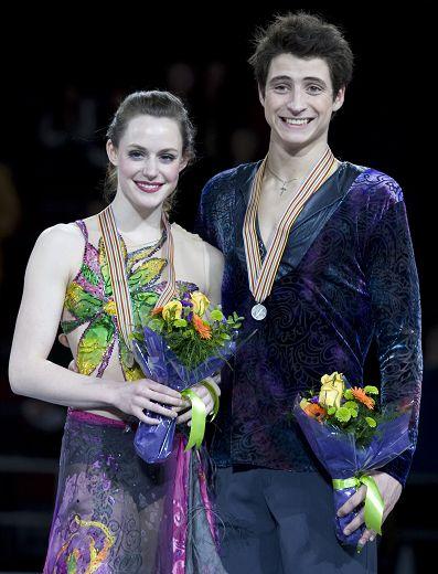 图文:四大洲赛冰舞自由舞 维楚莫伊尔获得银牌