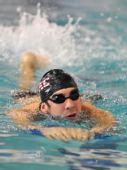 图文:菲尔普斯泳池公开训练 泳池才是菲鱼的家