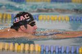 图文:菲尔普斯泳池公开训练 菲尔普斯水中畅游